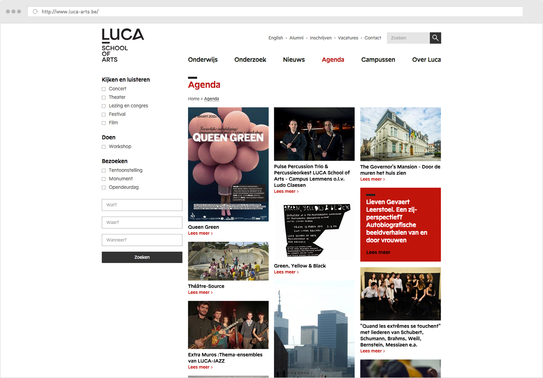 Luca School Of Arts Agenda