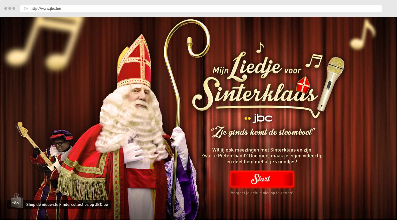 JBC Mijn liedje voor Sinterklaas - Startscherm